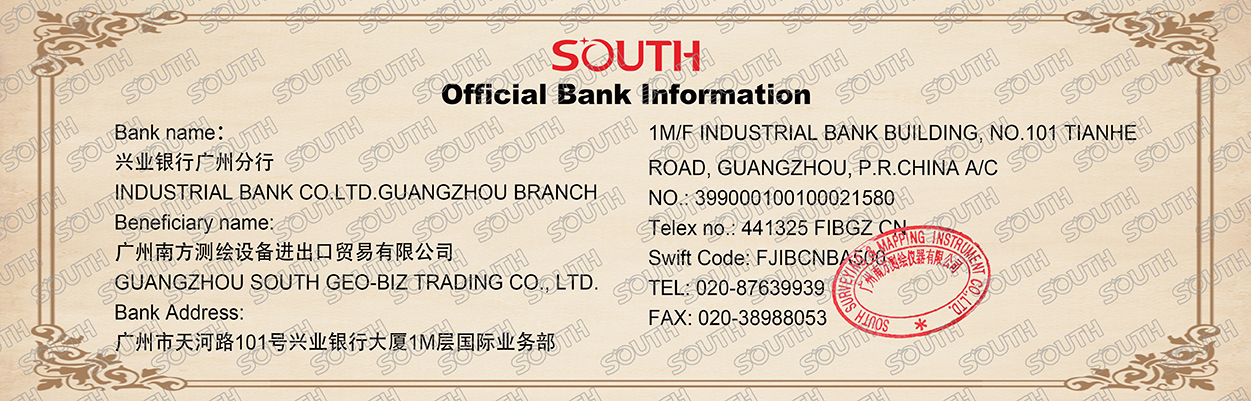 Official bank information